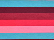 RESTSTÜCK 35 cm Jersey Blockstreifen 2 cm, rot/rosa