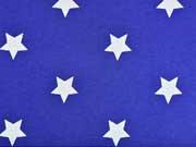 Sweat Sterne (4cm), weiß royalblau