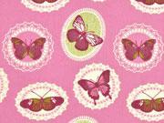 BW Ornamente & Schmetterlinge, altrosa