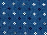 Baumwolle Mini Kreuzblume, indigoblau