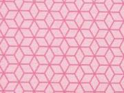 Jersey Gitternetz Muster, altrosa