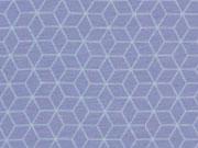 Jersey Gitternetz Muster, jeansblau