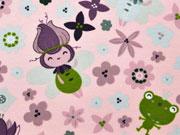 Jerseystoff Waldmännche Blumen, rosa