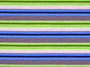 Jersey Ringelstreifen, blau/grün/grau