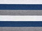 Jersey Streifen 1,7 cm, dunkelblau/grau