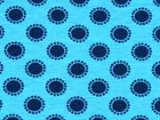 Jersey Punkte Kreise, dunkelblau türkis