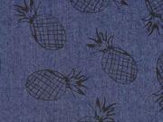 RESTSTÜCK 99 cm Stretchjeans Ananas dunkelblau