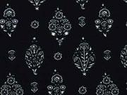 RESTSTÜCK 179 cm elastischer Crepe Blumensträuße, schwarz