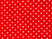 Feincord Pünktchen, weiss auf rot