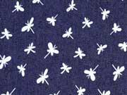 weicher Stretchjeans Libellen, dunkelblau