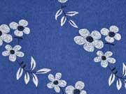 RESTSTÜCK 49 cm Stretchjeans Blumen & Blätter, jeansblau