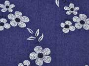 Stretchjeans Blumen & Blätter, dunkelblau
