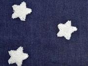 Jeans Frottee Stern, dunkelblau