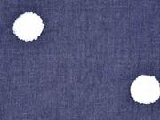 Jeans Frottee Punkte, dunkelblau