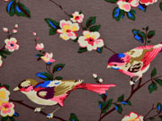 Jersey Vögel und Blumen, schlamm
