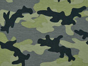 RESTSTÜCK 30 cm Jersey Camouflage, grün