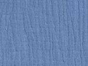 RESTSTÜCK 23 cm weicher Musselin, jeansblau