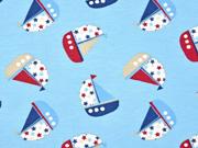 Jersey kleine Segelboote, hellblau
