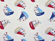 Jersey kleine Segelboote, cremeweiß