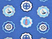 Jersey Buttons Leuchttürme & Segelboote, jeansblau