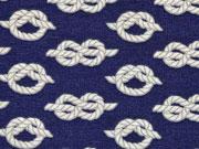 Dekostoff Seeknoten, helltaupe marineblau