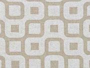Leinenlook  Labyrinth, weiß natur