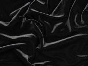 Samtstoff Samtjerseystoff elastisch, schwarz
