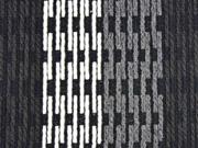 Strickstoff mit Struktur Mantelstoff wollige Haptik, schwarz grau