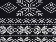 Strick Norweger Muster schwarz