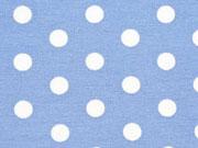 Dekostoff Punkte, jeanblau/weiß