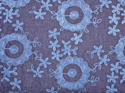 Jeans bestickt Blumen Allover, dunkelblau