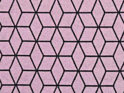 RESTSTÜCK 158 cm Jacquard Jersey graphisches Muster, altrosa