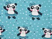 RESTSTÜCK 66 cm Jersey Panda Girl, mint