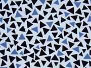 Jersey Dreiecke hellblau