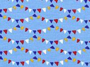 Jersey Wimpelketten hellblau