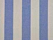 Dekostoff Blockstreifen 5 cm jeansblau natur