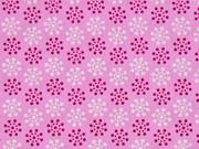 Baumwollstoff Blumenrädchen, rosa pink