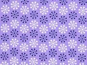 Baumwollstoff Blumenrädchen,  helllila lila