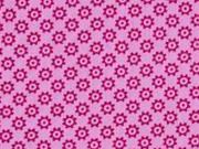 Baumwolle kleine Rädchen, rosa pink
