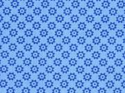 Baumwolle kleine Rädchen, jeansblau blau