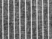 Leinen Viskose Nadelstreifen, schwarz meliert