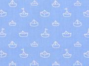 Baumwolle Papierschiffchen Segelboote, hellblau
