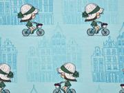 Jersey Fahrrad Mädchen, mint