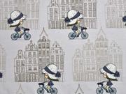 Jersey Fahrrad Mädchen, hellgrau