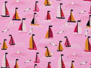 Jersey kleine Segelboote, rosa