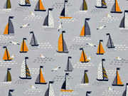 Jersey kleine Segelboote, hellgrau ocker