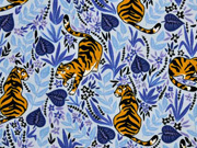 Jersey Tiger florales Muster, hellblau