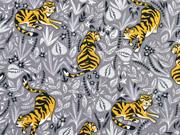 Jersey Tiger florales Muster, grau