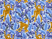 Jersey Affen Blätter, hellblau