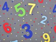 Jersey Zahlen Punkte, grau